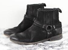 ALL SAINTS Black Nubuck Leather DAKOTA Chelsea Cuban Boots, Size EU 40 / UK 7