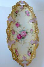 Antique German RS Prussia Roses Porcelain Celery Dish