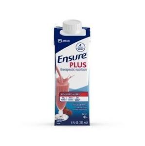 Ensure Plus Strawberry, 8 Ounce Recloseable Carton, Abbott 64907 - Case Of 24