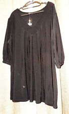 Canto BNWT Plus Size 18-22 Black 3/4 Sleeve Jersey V-Neck Top RRP $39.95