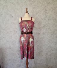Vintage 70s Psychedelic Sleeveless Paisley Boho Dress