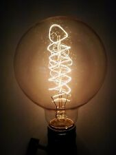 (10/PK) Simple Vintage G95 Edison Light Bulb 60W E26 Retro Tinted Globe Spiral