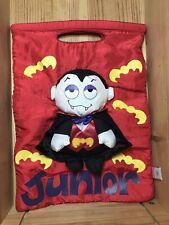 "Rare Vintage Gund Halloween Trick Or Treat Bag Dracula Plush Fabric ""Junior"""