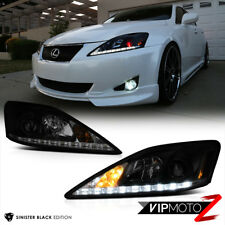 "06-13 Lexus IS 250 350 ""SINISTER BLACK"" Smoked LED Headlight Assembly LEFT RIGHT"