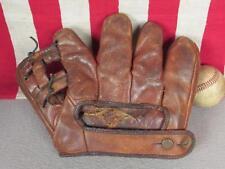 Vintage 1940s Wilson Leather Split Finger Baseball Glove Lefty Ted Williams HOF