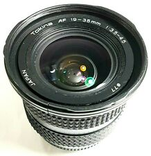 Tokina AF 19-35mm F3.5-4.5 Wide Angle Zoom Lens Nikon Ai-S with Cap UK Fast Post