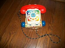 FISHER PRICE TELEPHONE ANTIQUE VINTAGE TOY 1960'S