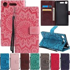 3D Sunflower Flip Leather Wallet Card Case Cover For Sony Xperia XZ1 XA1 L1 Z5