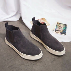 Men's Canvas Slip On Shoes Outdoor Sports Breathable Casual Comfort Ankle Boots