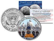 SAINT MARK'S BASILICA * Famous Churches * JFK Half Dollar U.S. Coin Venice Italy