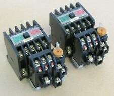 LOT OF 2: MITSUBISHI MAGNETIC CONTACTOR S-A12, W/ OVERLOAD RELAY TH-12