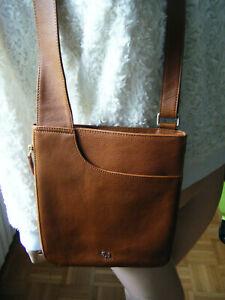 Original Radley London Pocket Bag Kompakte Tasche Umhängetasche Braun- Gold