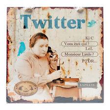 """Plaque décorative Twitter """"LOL"""" en métal humoristique rétro vintage - Class Déco"""