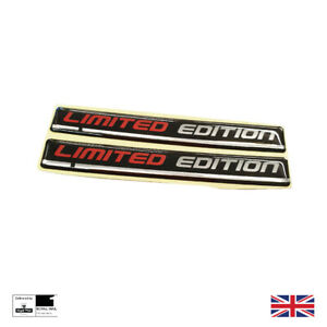 Limited Edition Wing Badges Fender Emblem Red / Black / Silver