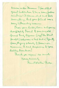 E.A. Wallis Budge Egyptologist Signed Letter 1932 / Autographed RARE!