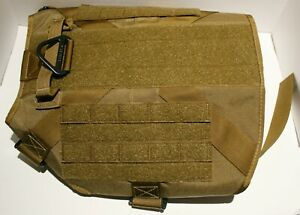 ICEFANG Tactical Dog Harness MOLLE Vest w/4 Metal Buckles & Training Handle XXL