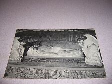 1940s THE TOMB at HOLY FAMILY CEMETERY CANUTE OKLAHOMA VTG POSTCARD