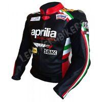 APRILIA Courses Moto Cuir Veste Hommes Cuir Biker Veste Sport Cuir Veste EU 56