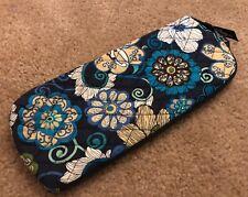 Vera Bradley Slipper Case in Mod Floral Blue - Zip Around Bag - Sack - Travel (2