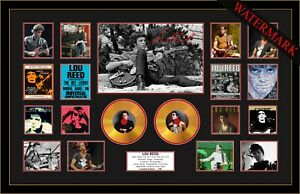 NEW! LOU REED MAGIC AND LOSS SIGNED MINI GOLD VINYL RECORD LTD ED OF 100 FRAMED