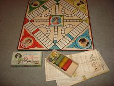 Vintage 1915 Pollyanna The Glad Game Parker Brothers Game Board With Utensils!