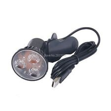 3W USB 3-LED Clip Light Reading Study Lamp Bulb for Desktop Notebook PC Laptop