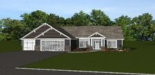 Custom Home House Plan 2,141 Sf Ranch, 3 Br, 21/2 Bath, Blueprint Plans #1493