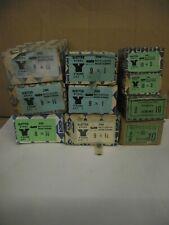 SIZE 8 - 9 & 10  VINTAGE SLOTTED STEEL CSK WOOD SCREWS - NETTLEFOLDS - 12 or 25