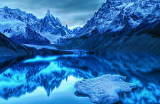 Framed Print - Wicked Blue Mountain Scene (Picture Poster Art Lake River Scenic)