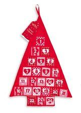 Giant Christmas Advent Calendar Tree Fabric + 24 Pockets Xmas Kids Festive Red