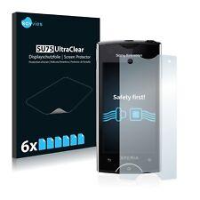 6x Sony Ericsson Xperia Ray ST18i Displayschutzfolie Klar Schutzfolie