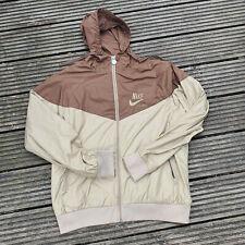 Vintage Nike Sportswear Windrunner windbreaker hooded jacket coat brown Size M