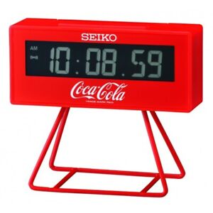 New Seiko Coca Cola Limited Lunar Miniature Marathon Mini Timer Alarm Clock Red