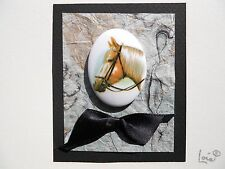 Cameo Style Horse Head Any Occasion Handmade Blank Greeting Card