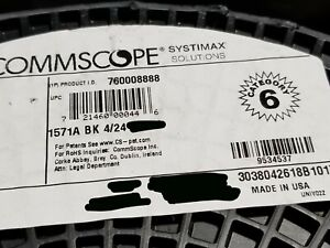 Commscope 1571A 24/4P Cat6 UTP Gel-Filled Direct Burial PE Cable Black /100ft