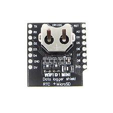 WEMOS D1 mini Data Logger shield RTC DS1307 with Batterie + MicroSD