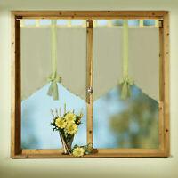 Scheibengardine 2er Set Fensterbild m. Schlaufen f. Flügelfenster Gardine Typ308