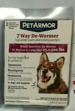 PetArmor Dog 7 Way De-Wormer 25 up to 200 lbs Exp. 05/2021