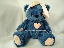 Cherished Teddies Plush Blue Bear 1999 Limited Edition Used