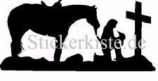 2 x Cowgirl avant croix mante horse cheval western les Cut Fun Décalque sticker 17c