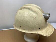 Vintage Ed Bullard 502 White Fiberglass Hard Hat- Iron Worker No Liner