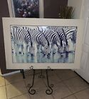 "Thomas Mangelsen ""The Dry Season - Zebras"" Signed Limited Ed Print 816/950 50x30"