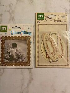 Making Memories, Glitter Bling Frame and Vintage Findings