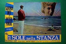 T04 FOTOBUSTA IL SOLE NELLA STANZA SANDRA DEE PETER FONDA SPIAGGIA MARE KELLER