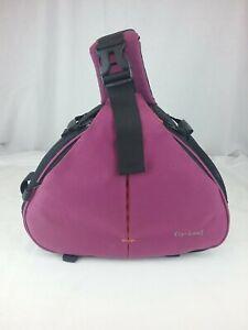 Fly Leaf - Medium - Camera Bag - One Shoulder Strap - Purple / Black - Good.Cond
