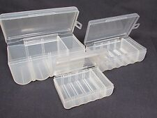 Clear Transparent Battery Storage Boxes Case Holder Container For AA AAA & C NEW