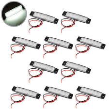 10x Waterproof Car Truck Trailer Side Marker Indicators Light White 6LED w/screw