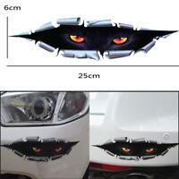 1x 3D Peeking Eyes Funny Car Van Bumper Window Vinyl Decal Graphics Sticker