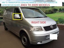 GENUINE VW TRANSPORTER 03 TO 09 WING MIRROR COVER R/H SIDE VW LA7W REFLEX SILVER