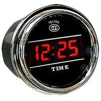 Digital Clock Gauge for Any Semi, Pickup Truck or Car, Teltek Brand